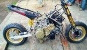 Минибайк Honda MSX с мотором Ducati 1199 Panigale R - фото 4