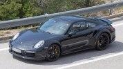 Следующее поколение Porsche 911 Turbo впервые попало в объективы фотокамер - фото 6