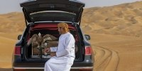 Bentley Bentayga приспособили к соколиной охоте - фото 5