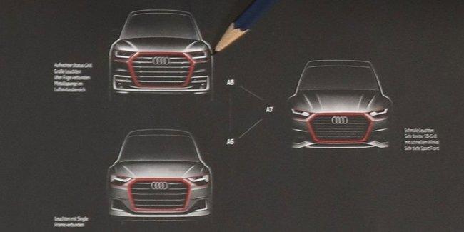 Дизайнер Audi показал эскизы новых A6, A7 и A8