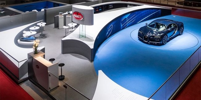 Стенд Bugatti признали лучшим на Женевском моторшоу