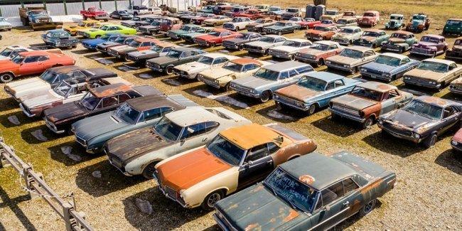 В Канаде выставили на продажу два гектара старых машин
