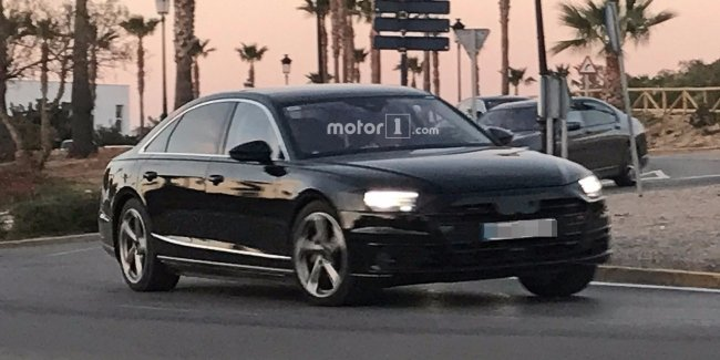 Новый Audi A8 замечен почти без камуфляжа