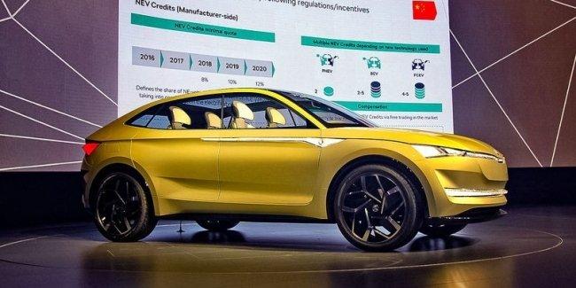 Электрический купе-кроссовер Skoda Vision E