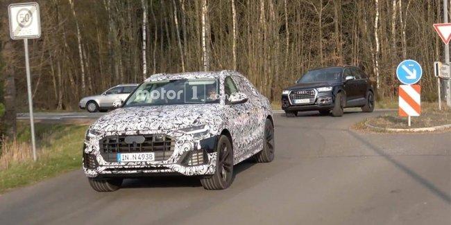 Кроссовер Audi Q8 показали на видео