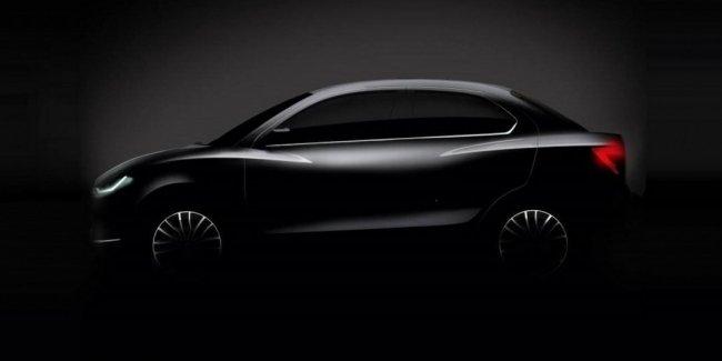 Представлено первое официальное изображение нового седана Suzuki Dzire