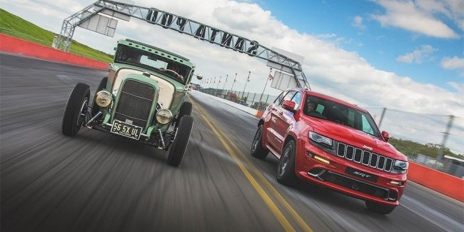 Jeep Grand Cherokee SRT сравнили в дрэге с хот-родом