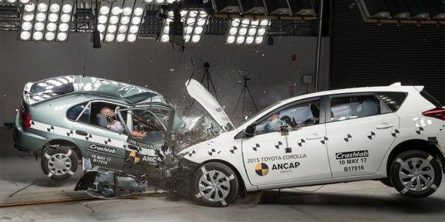 Видео: краш-тест старой и новой Toyota Corolla