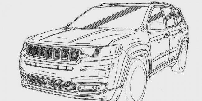 Опубликованы изображения большого внедорожника Jeep