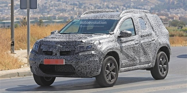 Новый Renault Duster впервые сфотографировали c серийным кузовом