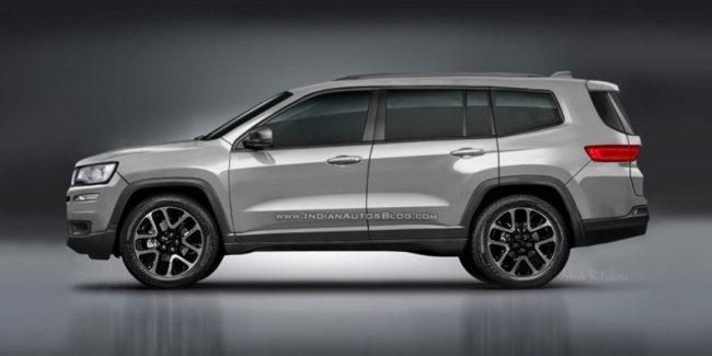 Новый семиместный Jeep дебютировал на независимом рендере