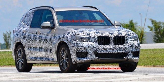 Новые фотографии кроссовера BMW X3 выложили в сеть