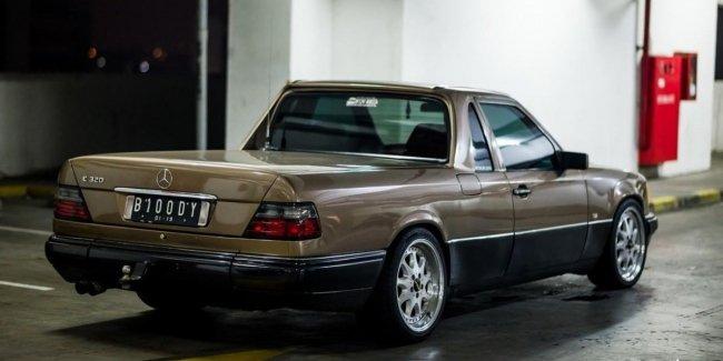 Тюнинг W124: очень необычный Mercedes-Benz E-класса в кузове пикап