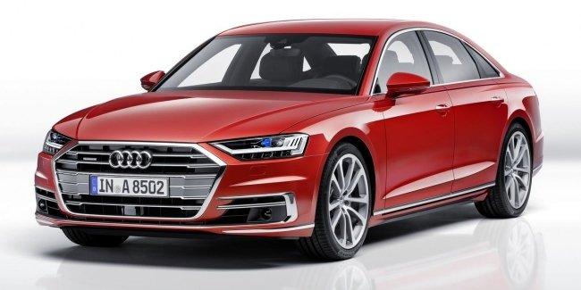 Новая Audi A8: «подпрыгивающая» подвеска, смартфон вместо ключа и массаж ступней