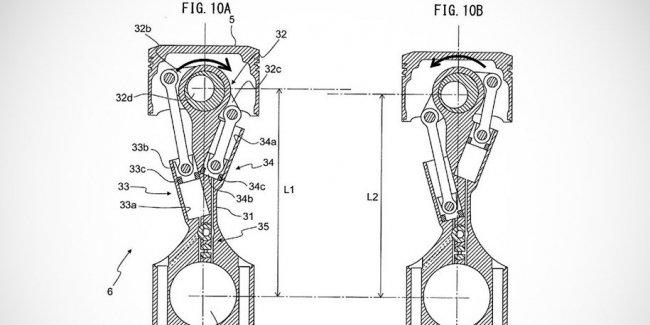 Toyota запатентовала мотор с изменяемой степенью сжатия