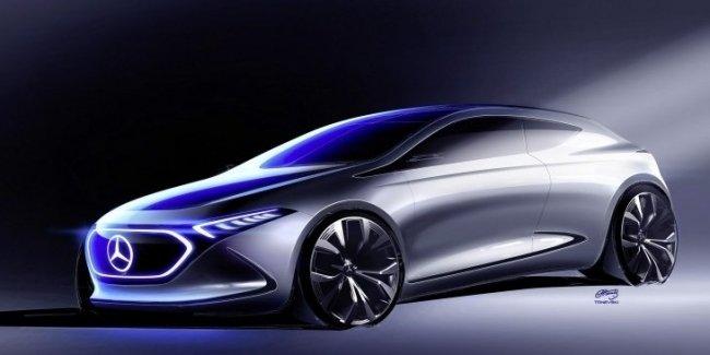 Официальный скетч концептуального электрокара Mercedes-Benz EQ A