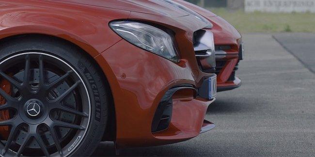 Видео: гонка суперседанов Mercedes-AMG и Porsche
