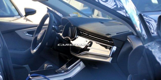 Интерьер кроссовера Audi Q8 рассекретили до премьеры