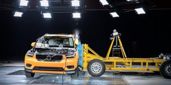 2018 Volvo XC40 разбили, чтобы проверить его безопасность - Видео