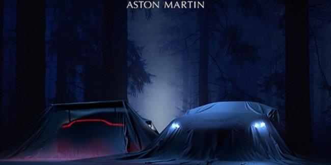 Новый Aston Martin Vantage: официальное фото под покрывалом