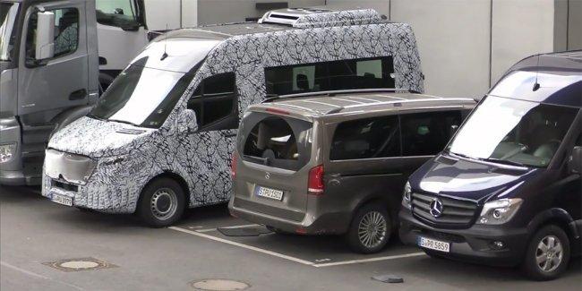 Новый Mercedes Sprinter впервые показали на видео