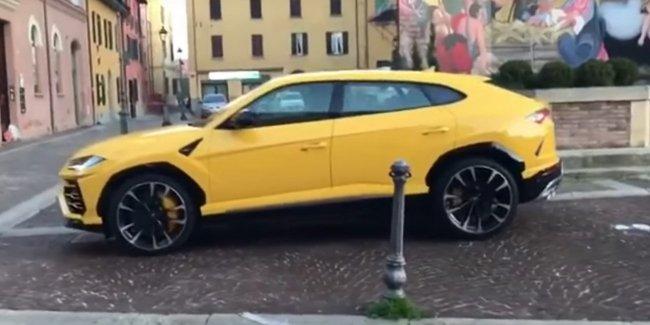 Кроссовер Lamborghini Urus впервые засняли вживую