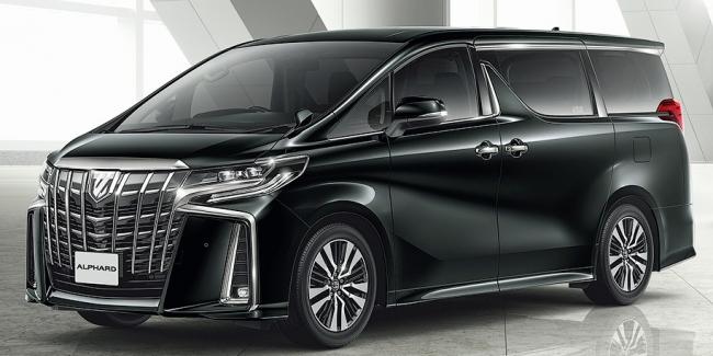 Минивэн Toyota Alphard обновился и стал еще агрессивнее