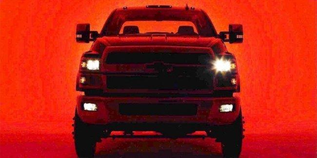 Chevrolet опубликовала первое изображение нового грузовика Silverado