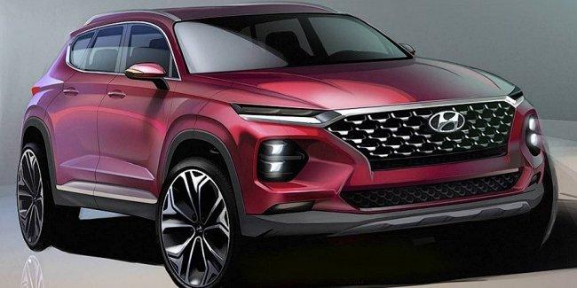 Вот так будет выглядеть новый Hyundai Santa Fe: первые изображения