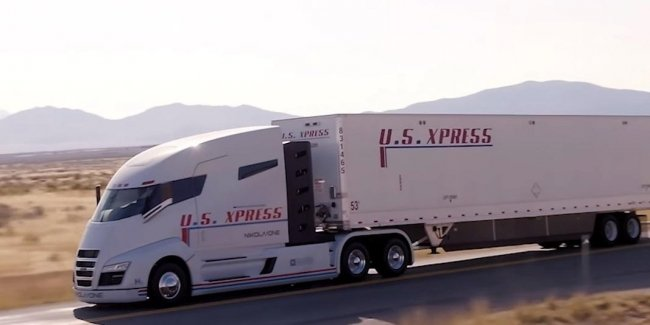 1000-сильный водородный грузовик засветился на дороге