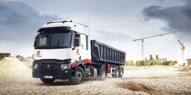 Renault презентовала специальный грузовик для строительных работ T X-Road 460
