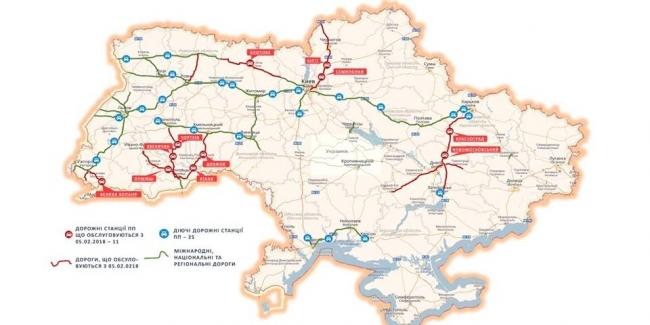 Опубликована карта патрулирования дорог Нацполицией