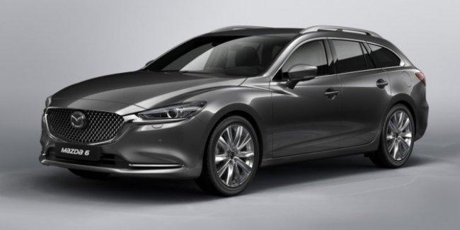 Опубликованы первые фото обновлённого универсала Mazda6