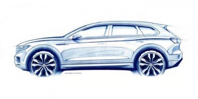 Официальное изображение и дата премьеры Volkswagen Touareg 2019