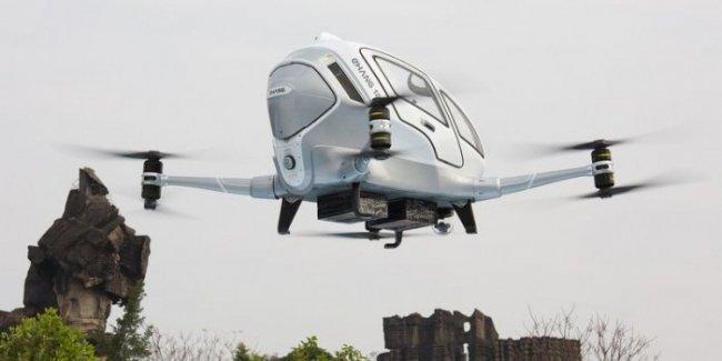 Китайцы совершили первую перевозку на своем дроне-такси