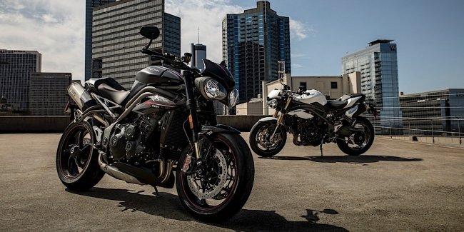 Обновленные мотоциклы Triumph Speed Triple S и RS