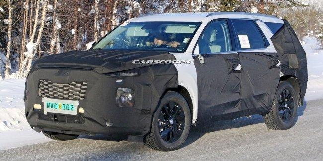Hyundai вывел на тесты совершенно новый большой внедорожник