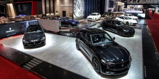 Maserati представил Ghibli, Quattroporte і Levante в специальной серии Nerissimo  на 88-м Женевском автошоу