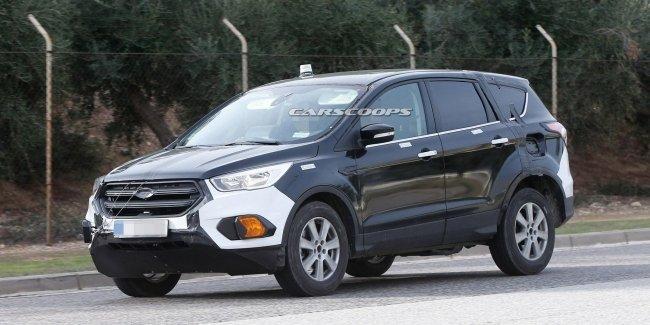 Ford Kuga нового поколения впервые замечен на тестах