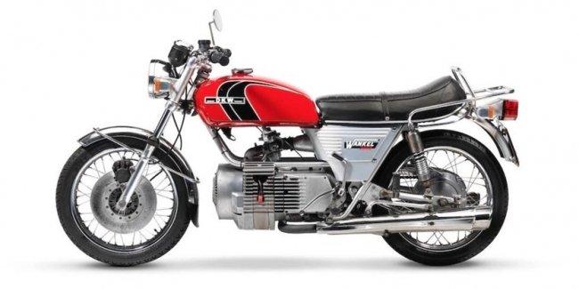 DWK W2000 / Hercules W-2000 Rotary - мотоцикл с роторным мотором Ванкеля