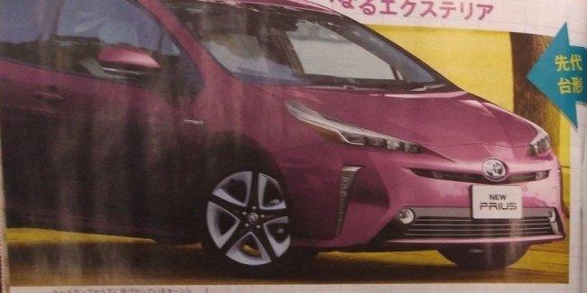 Первые фото Toyota Prius 2019