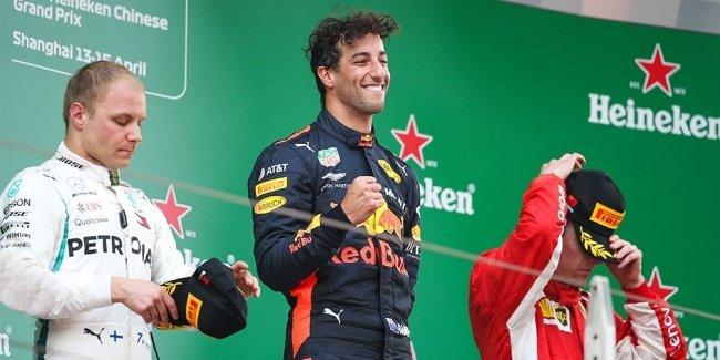 Даниэль Риккардо выиграл Гран-при Китая Формулы-1
