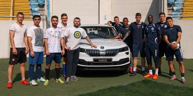 Украинская Премьер-Лига и ее автомобильный партнер ТМ Skoda провели с ФК «Черноморец» Всеукраинскую акцию «Тренировка со звездой»
