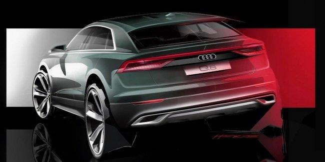 Кроссовер Audi Q8 дебютировал на официальном эскизе