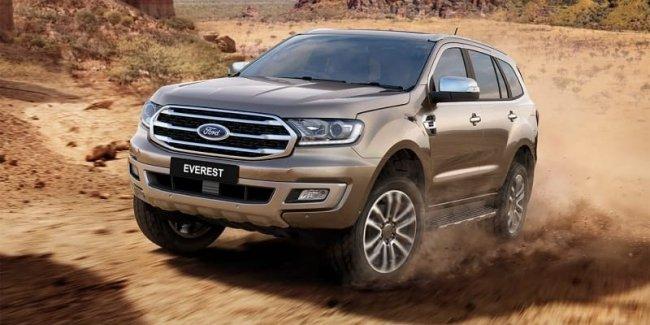 Ford рассекретил обновлённый внедорожник Everest