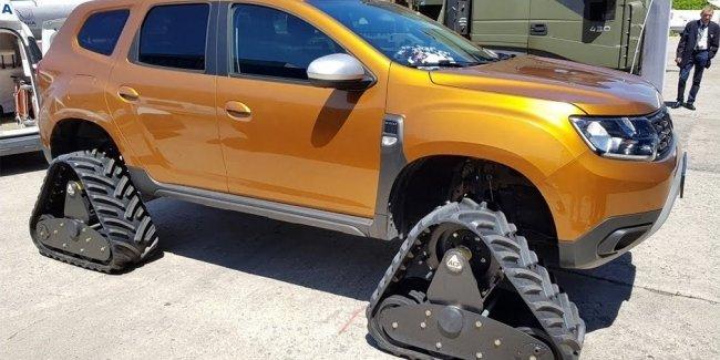 Новый Renault Duster перевели на гусеничную тягу