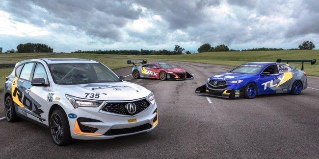 Acura подготовила к гонке по горам седан, кроссовер и суперкар