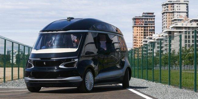 В Казани представили беспилотный микроавтобус «КАМАЗ»