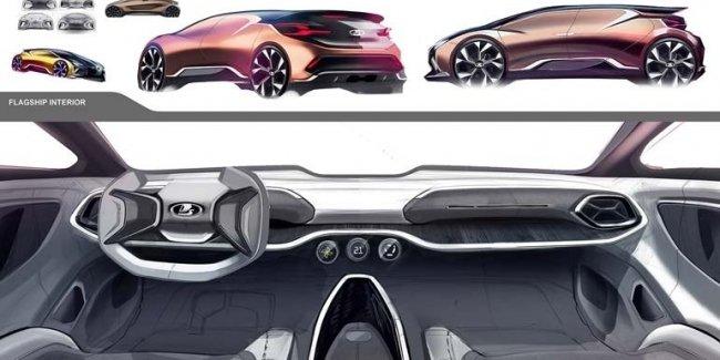 «АвтоВАЗ» показал эскизы новой модели LADA