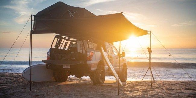 Nissan сделал из пикапа Titan пляжный домик
